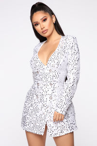Not Afraid To Sparkle Dress - Ivory