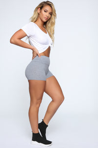 Staying In Shorts - Grey Angle 3