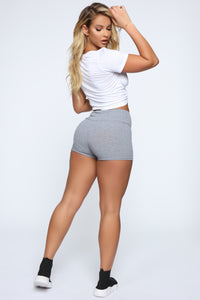 Staying In Shorts - Grey Angle 5