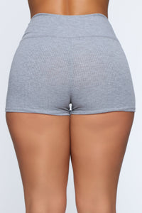 Staying In Shorts - Grey Angle 6