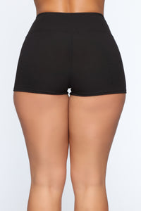 Staying In Shorts - Black