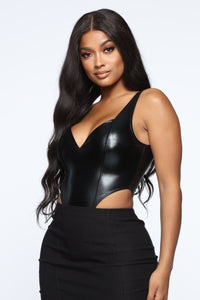 caacd229369 Don t Call Me Up Bodysuit - Black