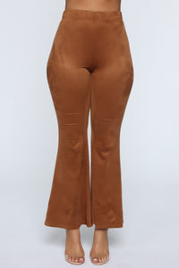 Sabrina Suede Pants - Brown Angle 2
