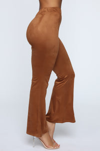 Sabrina Suede Pants - Brown Angle 4