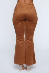 Sabrina Suede Pants - Brown Angle 6