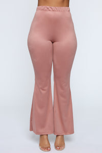 Sabrina Suede Pants - Blush