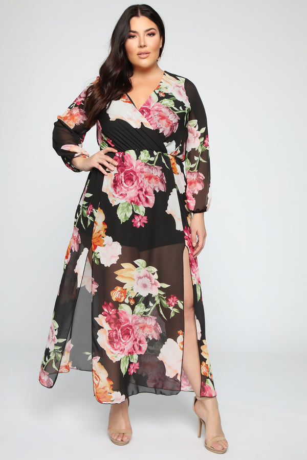 8b4a0ef97d6 Moving Forward Maxi Dress - Black Combo