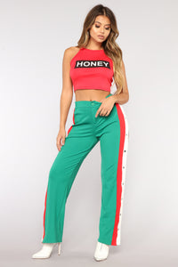 Sweet As Honey Crop Top - Red