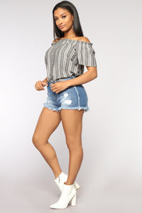 Pippa Denim Shorts - Medium Blue Wash