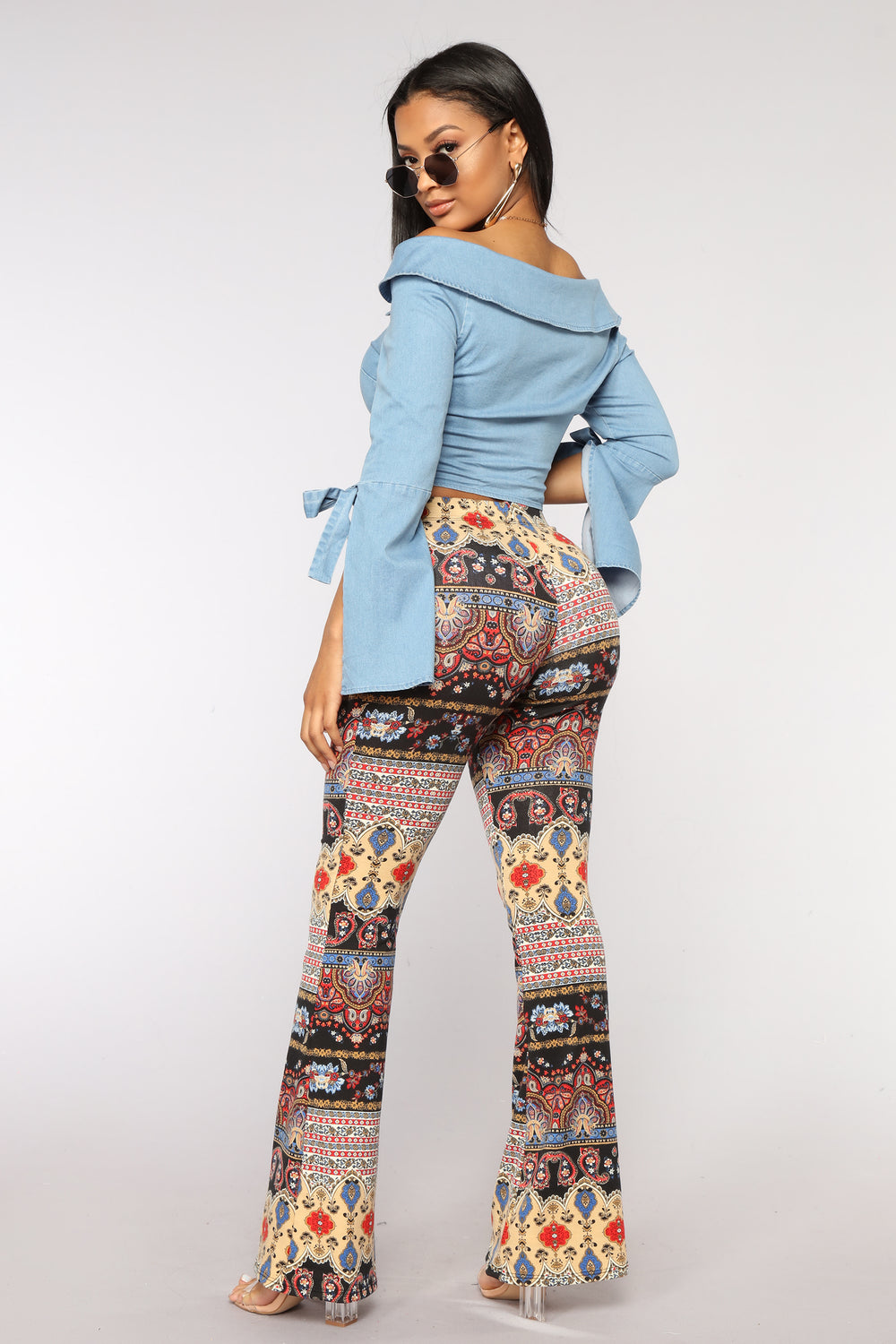 Every Time Print Flare Pants - Multi
