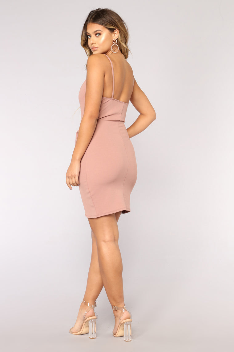 Liliana Wrap Dress - Mauve