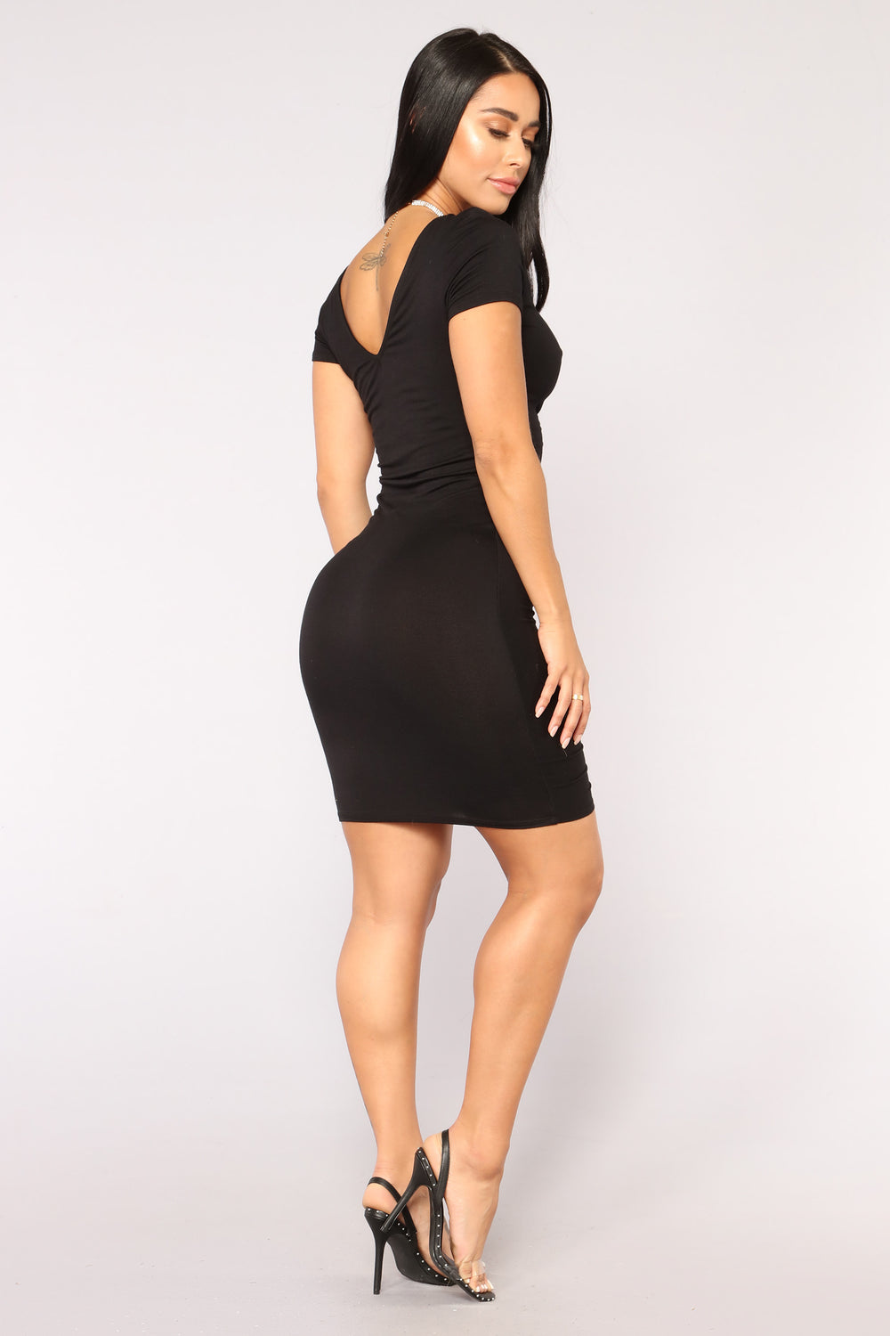 Forbidden City Ruched Dress - Black