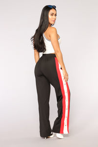 Big Baller Snap Pants - Black