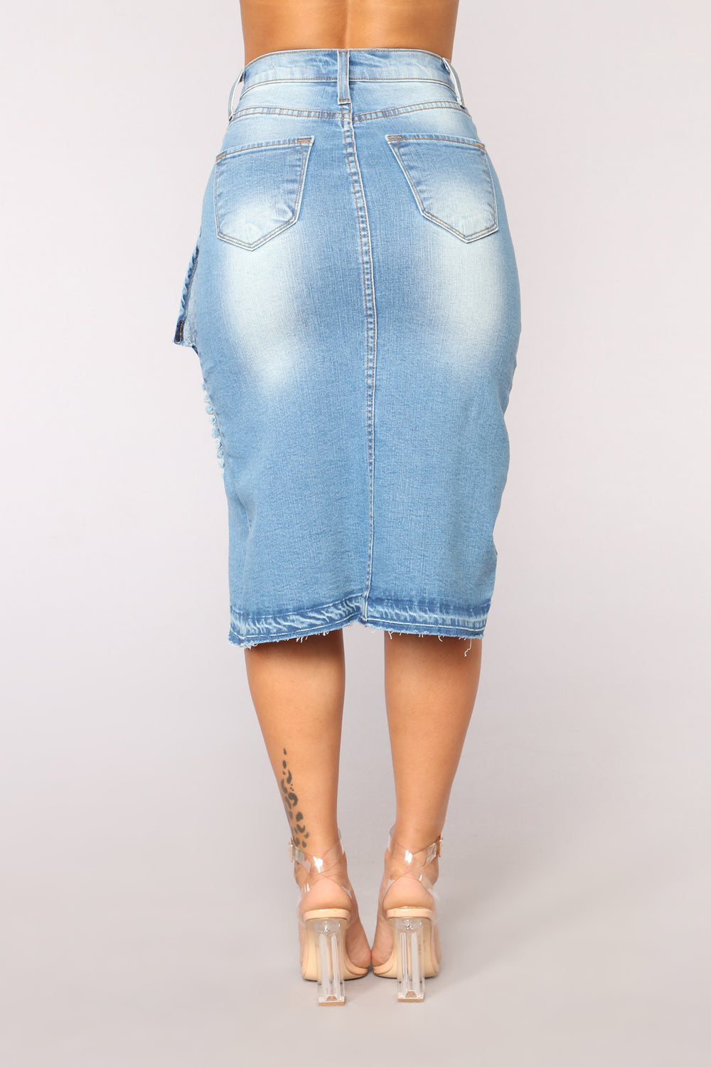 You Wish Denim Skirt - Medium Blue Wash