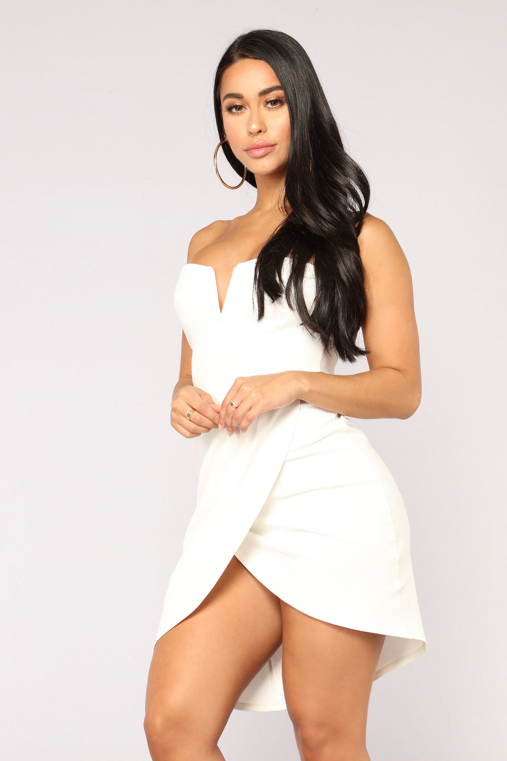 Hannah Asymmetrical Dress - Off White