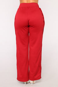 Playa Alert Snap Pants - Red/Combo