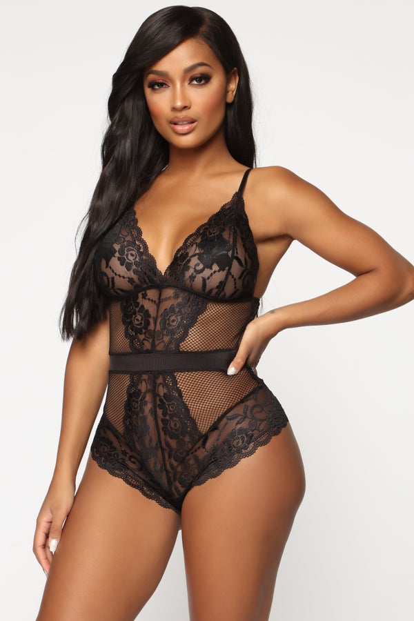 93f37d11f What You Do To Me Lace Teddy - Black