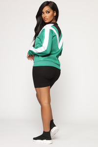 On My Game Track Jacket - Green