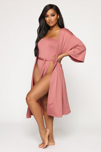 At The Pool Party 2 Piece Sunsuit - Mauve