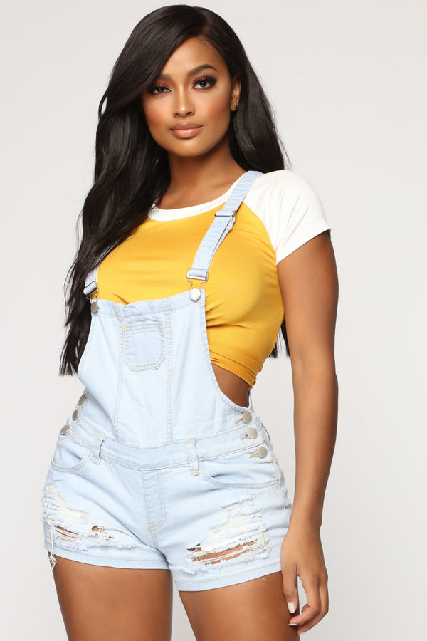 fc092521fb Not Your Typical Distressed Shortall - Light Blue Wash