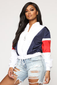 Living Freely Windbreaker Jacket - White