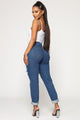 Fan Club Queen Boyfriend Jeans - Medium Blue Wash
