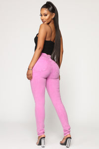 You're The One I Need High Rise Jeans - Purple