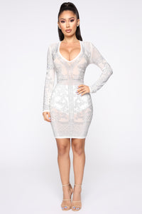 The Show Goes On Mini Dress - White