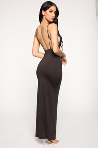 Eyes On You Cowl Neck Maxi Dress - Black