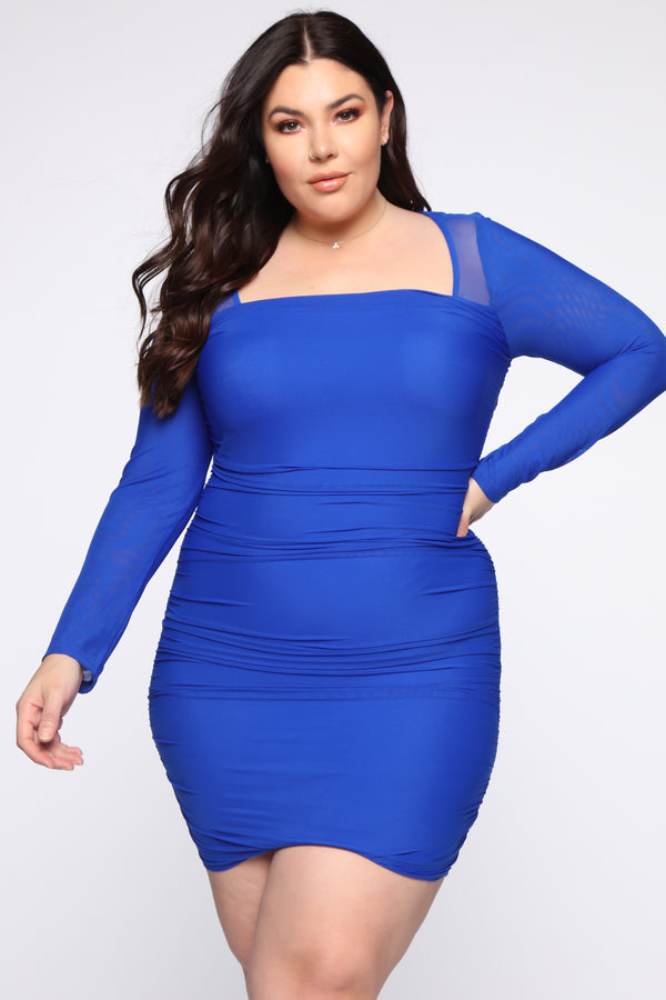 d799912d54 Can't Mesh Up My Day Mini Dress - Royal