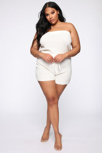 No Days Off Tube Romper - Ivory
