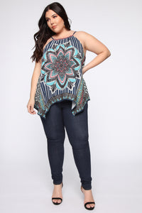Your Kaleidoscope Dreams Top - Navy Angle 7