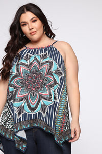 Your Kaleidoscope Dreams Top - Navy Angle 6