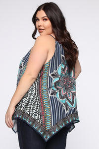 Your Kaleidoscope Dreams Top - Navy Angle 9