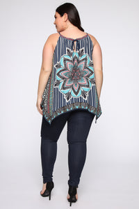 Your Kaleidoscope Dreams Top - Navy Angle 10