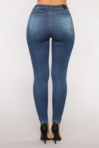 It's Now Or Never Skinny Jeans - Medium Blue Wash