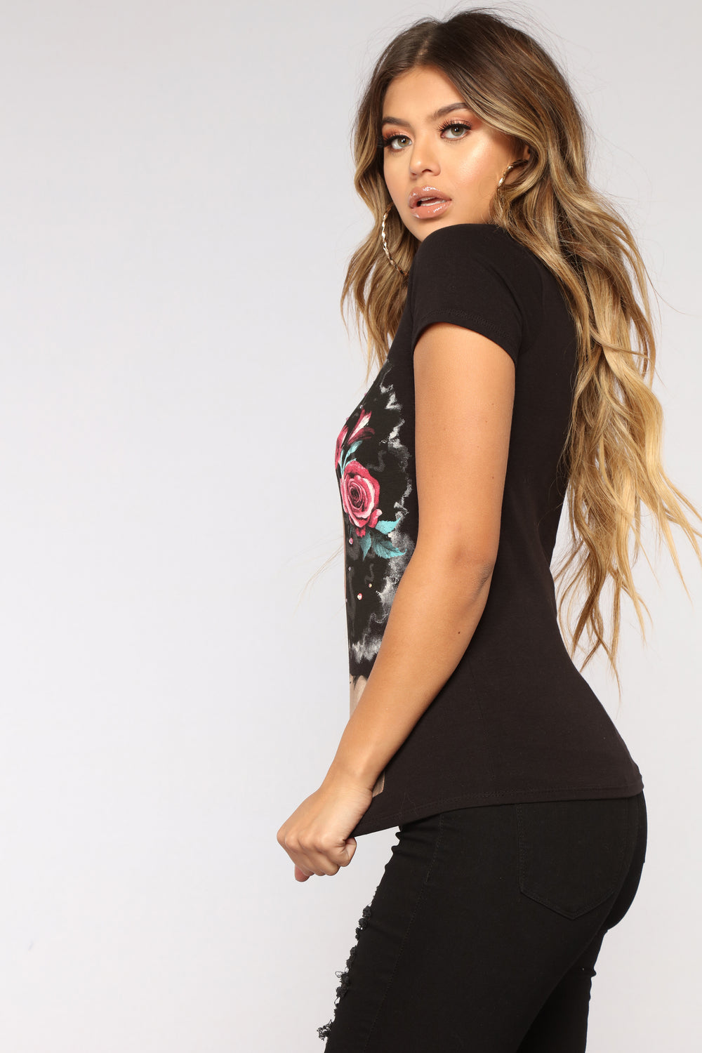 Her Favorite Tee - Black