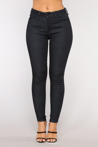 Look Away High Rise Jeans - Dark Wash