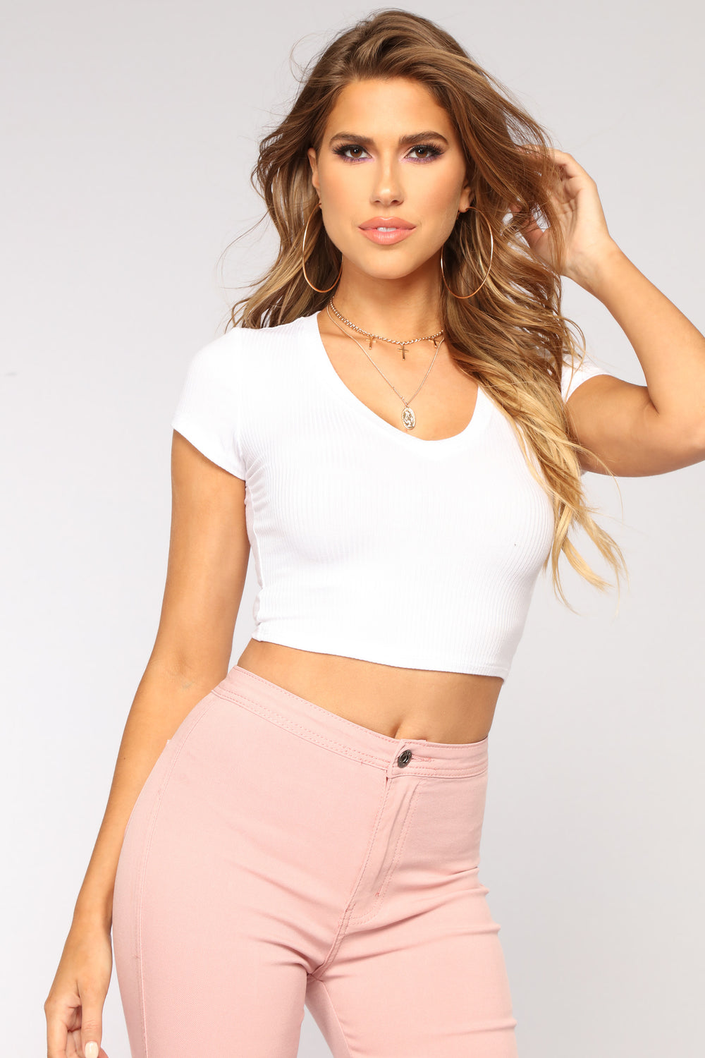 Little Do You Know Crop Top - White