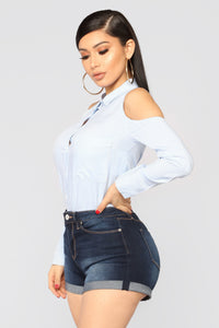 Boss AF Striped Top - Light Blue