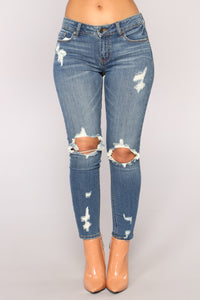 Deserve The Best Skinny Jeans - Dark Denim