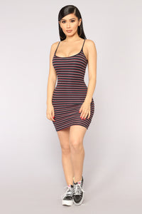 Brylee Striped Dress - Black