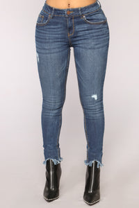 Shed No Tears Ankle Jeans - Dark