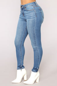 Grace Super Soft Skinny Jeans - Medium Blue Wash