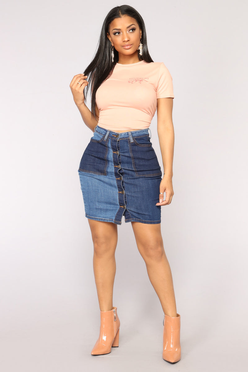 Adrienne Denim Skirt - Dark Wash
