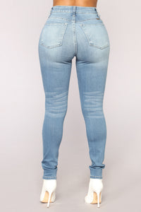 Left To Right Skinny Jeans - Light Blue Wash