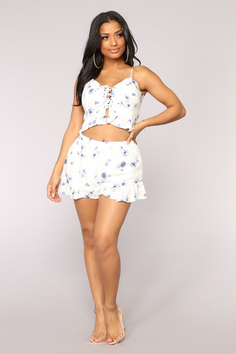 Moon River Polka Dot Set - Off White