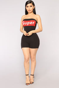 Super Tube Romper - Black
