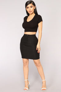 All The Way To The Top Skirt - Black