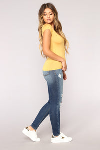 Nelida Basic Tee - Yellow